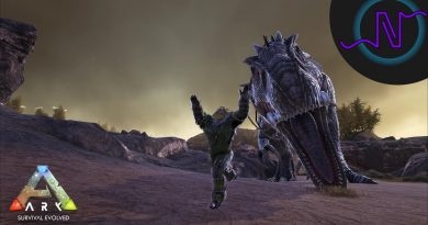 Xycor runs for his life while a Giganotosaurus chases in ARK Ragnarok