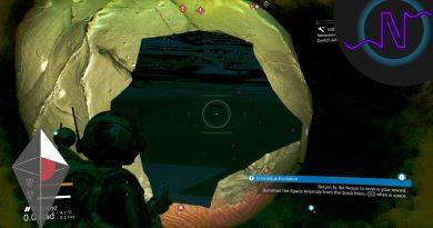 Blasting a hole through No Man's Sky map